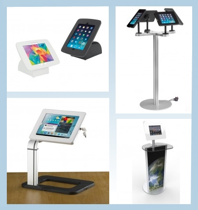 tablet holders for trade show displays