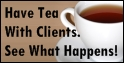 tea with clients