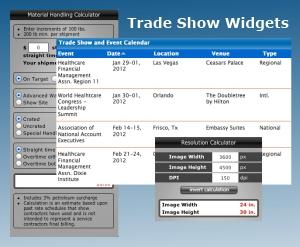 trade show widgets